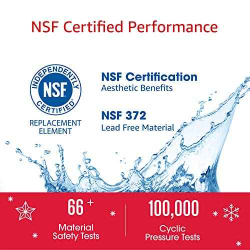 AQUACREST WF1CB Refrigerator Water Filter, Compatible with Frigidaire PureSource WFCB, RG100, NGRG2000, WF284, Kenmore 9910, 469906, 469910 (Pack of 3)