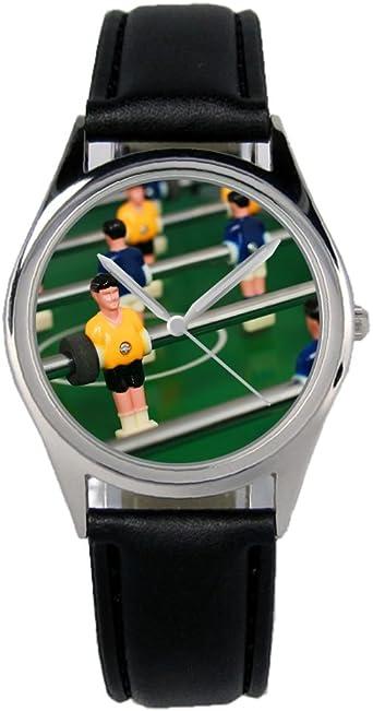 Futbolín futbolín regalo Fan Artículo accesorios Fan Artículo Reloj B de 2815: Amazon.es: Relojes