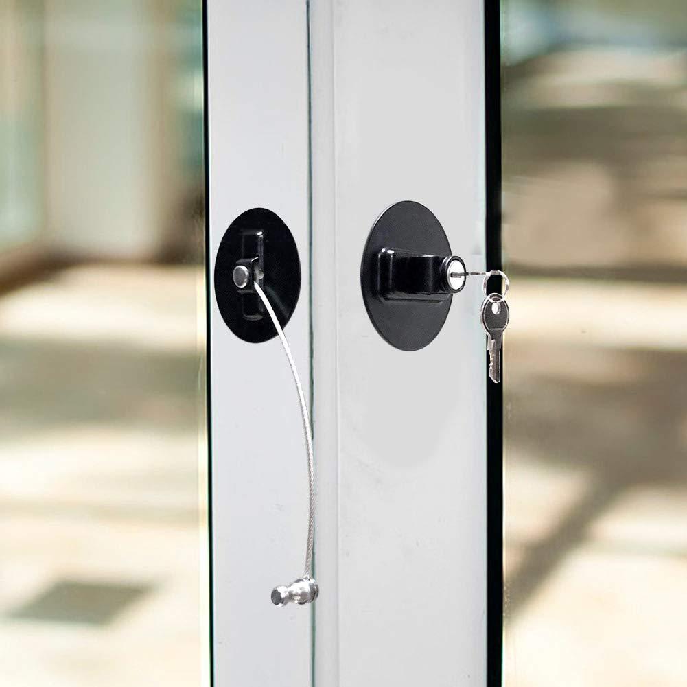 TOOGOO Cerradura para Ni?os Cerradura para Refrigerador Cerradura para Ventanas Windows Sin Tener Que Perforar La Protecci/ón del Beb/é para Evitar Que Caiga