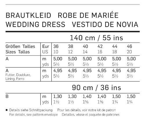 Amazon.com: 7086 Burda Wedding Dress Sewing Pattern Sizes 10-20: Arts, Crafts & Sewing