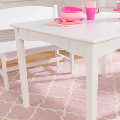 KidKraft Nantucket Table With Bench & 2 Chair Set - White