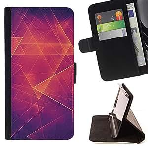 For Samsung Galaxy J1 J100 Case , Abstracto anaranjado caliente Polígono- la tarjeta de Crédito Slots PU Funda de cuero Monedero caso cubierta de piel