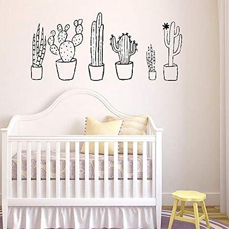 ONETOTOP Cactus Conjunto Blanco y Negro Tatuajes de Pared Plantas ...