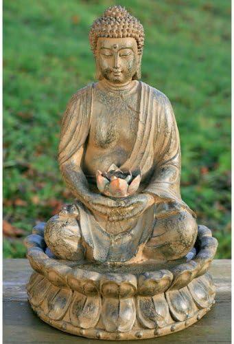 Seliger Pozo Fuente De Habitación Decoración De Jardín Buda 50cm: Amazon.es: Jardín