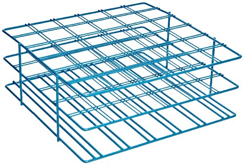 Bel-Art F18794-0002 Poxygrid Centrifuge Tube Rack; 50ml, 36 Places, 9 x 8⅞ x 3½ in., Blue