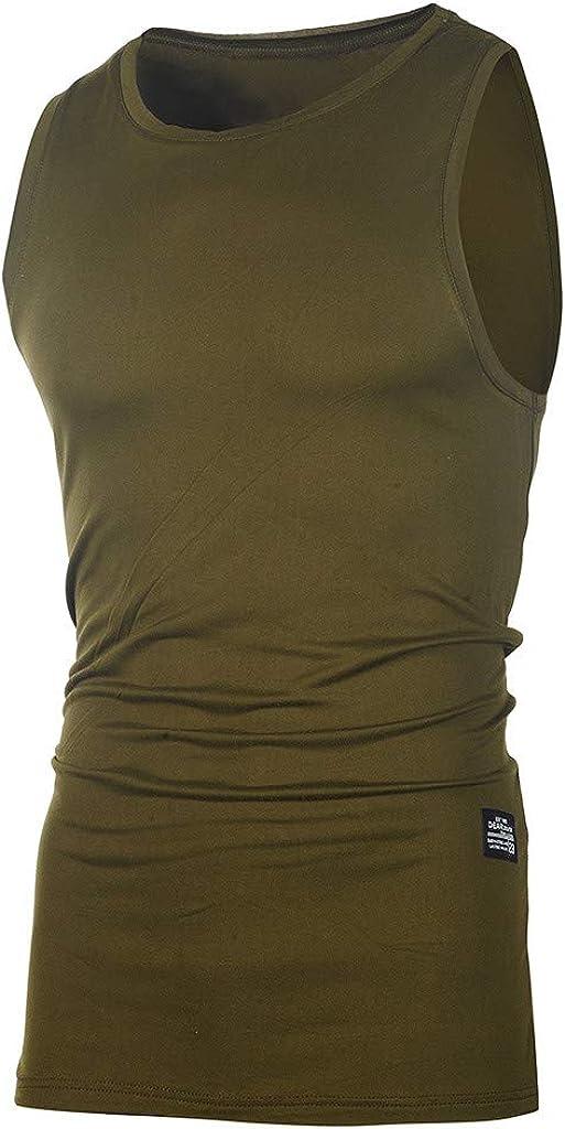 WUAI-Men Gym Workout Stringer Tank Tops Plus Size Bodybuilding Fitness Muscle Tops Sleeveless Vest