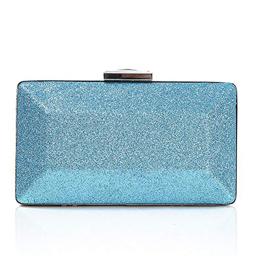 Clutch High SHMILY Donna Paillettes End Chain Bag Blue Pink A Con Dinner Bag Party Da Bag Mano Borse Glitter qqtSw1O