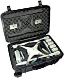 Case Club Waterproof DJI Phantom 3 Drone Wheeled Case with Silica Gel (Propellers On)