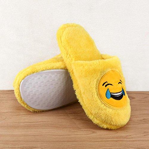 Pantofole Sagton Unisex Emoji Simpatico Cartone Animato Caldo Accogliente Morbido Imbottito Per Uso Domestico Scarpe Da Interni A