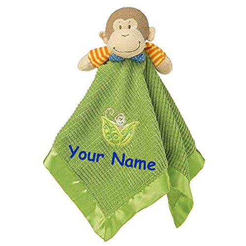 (Personalized Mango Monkey Character Blanket Snuggle Blanky - 17 Inches)