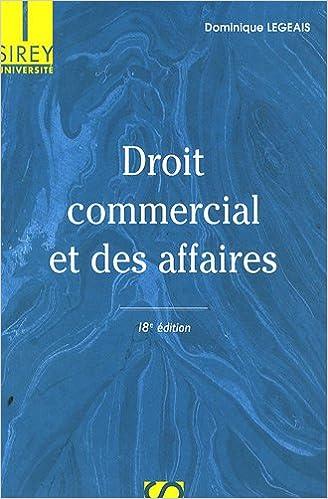 Télécharger en ligne Droit commercial et des affaires pdf