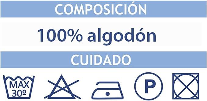 70X50 100/% Algod/ón MI CASA E Bolsa Compra Tela Mensaje E 70X50CM Unico