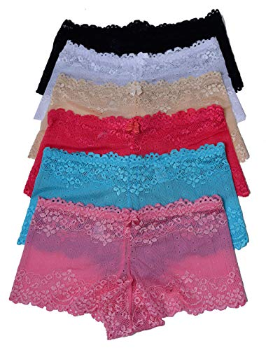 - Viola's Secret Lace Boyshort Underwear Pack of 12 Women Panty (XL)