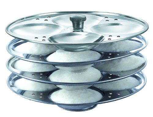 Prestige Stainless Steel Idli Stand 4 Racks Makes 16 Idlis