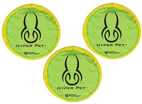 (3 Pack) Hyper Pet 9″ Hyper Flippy Flopper Dog Toy, Colors May Vary