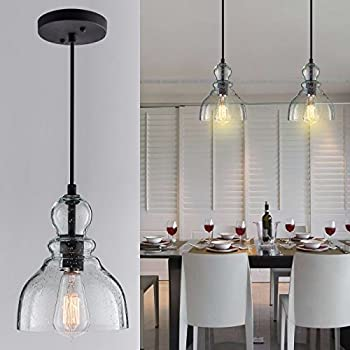 CASAMOTION Industrial Edison Vintage Hand Blown Glass Pendant Light