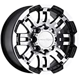 "Vision Warrior 375 Gloss Black Machined Face Wheel (17x8.5""/8x165.1mm)"