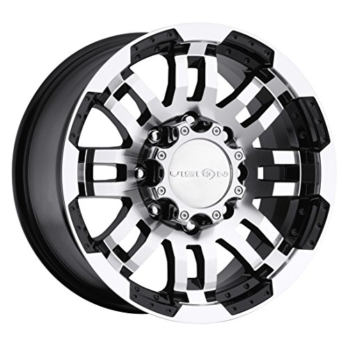 Vision Warrior 375 Gloss Black Machined Face Wheel (17x8.5