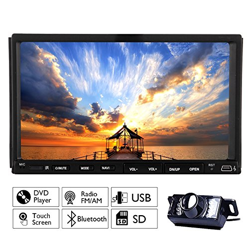 Multimedia Automotive Parts Autoradio 2 Din In Dash Headunit MP3 Music Car Stereo Auto Radio DVD Player Electronics CD In Deck Car Video LCD Screen logo Remote control Built in Backup Camera