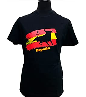 ZiNGS Camiseta Toro y Bandera de España Adulto
