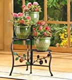 SKB Family Country Apple Plant Stand Graceful Home Decor 19 1/4'' x 15 1/2'' x 19 3/4''