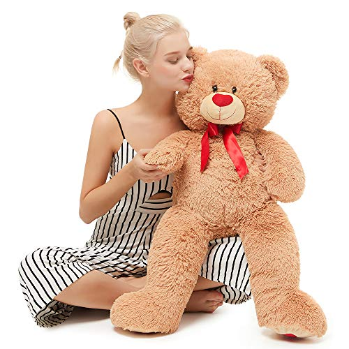 MorisMos Giant Cute Soft Toys Teddy Bear for Girlfriend Kids Teddy Bear (Brown, 39 Inch)
