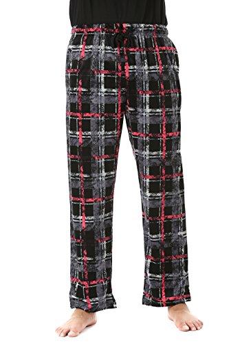 (#FollowMe 45903-2A-M Fleece Pajama Pants for Men/Sleepwear/PJs,Plaid 2a,Medium)