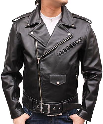 ライダースジャケット Mo-Lawz レザー ダブル ライダース メンズ ジャケット(USサイズ) MLRJ003