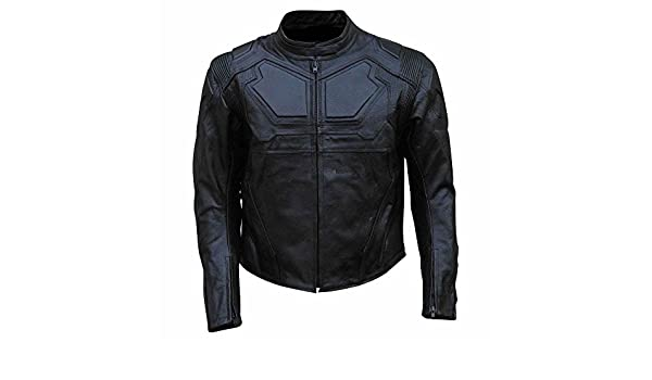 coolhides Mens Real Leather Motorcycle Jacket