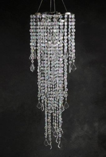 Crystal Chandelier 3-Tier LED Battery Operated 42 inches by SOC