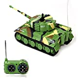 Willtoo(TM) Mini Tiger Tank 1:72 49MHz R/C Radio Remote Control 20M Kids Toy Gift (Army Green)