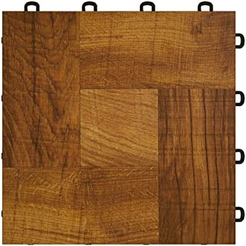 Basement Interlocking Laminate Tiles Red Wood 27 Sq Ft