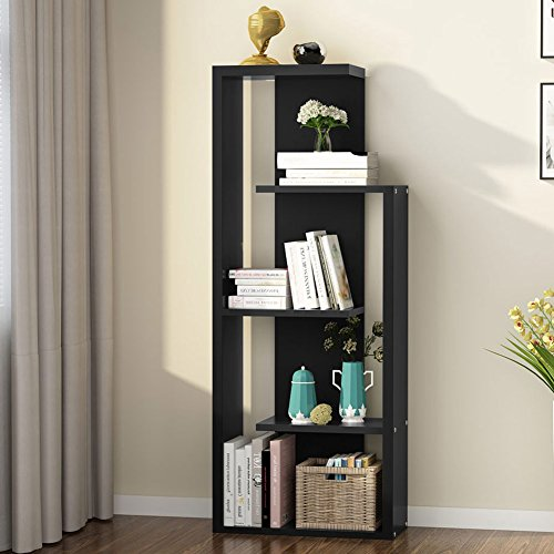 Tribesigns 5-Tier Bookshelf, Modern Bookcase Book Rack Display Shelf Storage Organizer for Living Room, Bedroom, Office (Left) by Tribesigns