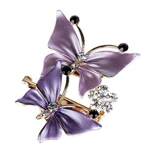 Butterfly Pin Brooch - Merdia Elegant Butterfly Brooches Pins for Women - Purple [Jewelry]