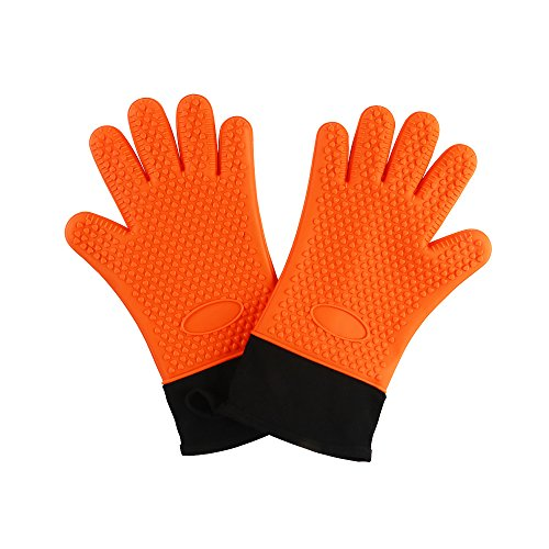 BBQ Cooking Gloves,Extreme Heat Resistant Barbeque Grilling Hands Protection - Waterproof Grill & Kitchen Oven Mitts - Smoker Accessories