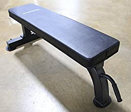 Atlas Heavy Duty Flat Bench 1000 Lb. Capacity with handle and wheels