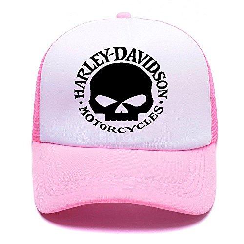 Harley D Black Baseball Caps Gorras de béisbol Trucker Hat Mesh Cap For Men Women Boy Girl 001 Pink