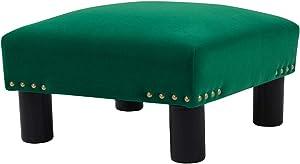 Jennifer Taylor Home Jules footstool, Ultramarine Green