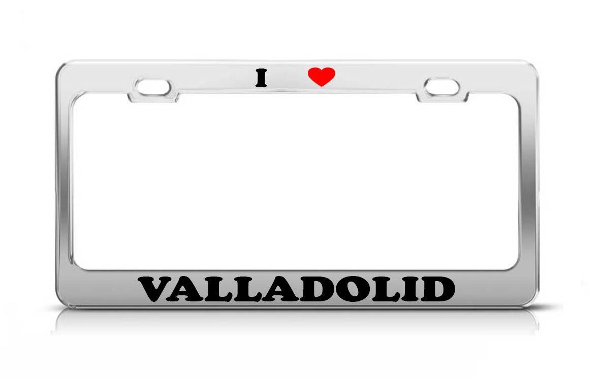 Amazon.com: I HEART VALLADOLID Spain Metal Auto License ...