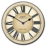 Waterford Wall Clock, Available in 8 Sizes, Most Sizes Ship The Next Business Day, Whisper Quiet.