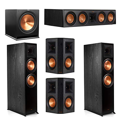 Klipsch 5.1 System with 2 RP-8000F Floorstanding Speakers, 1 Klipsch RP-504C Center Speaker, 2 Klipsch RP-502S Surround Speakers, 1 Klipsch R-115SW Subwoofer
