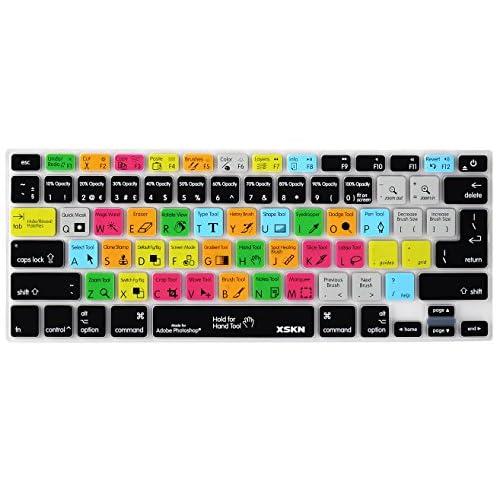 217941521b7 Adobe Photoshop Shortcuts Keyboard Skin Hot Keys PS Keyboard Cover for  Macbook Air 13   Macbook