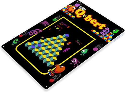 """Tinworld TIN Sign 12"""" x 18"""" Q-bert Arcade Shop Game for sale  Delivered anywhere in USA"""