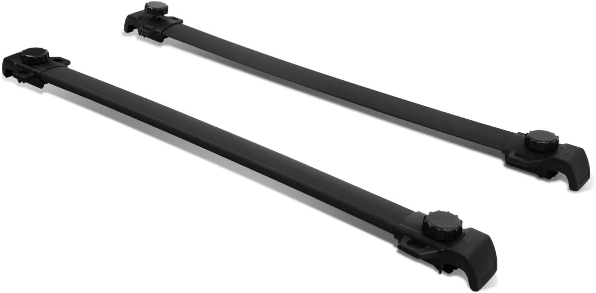 Replacement for Dodge Journey Pair of Aluminum OE Style Roof Rack Top Crossbars (Black Coated)