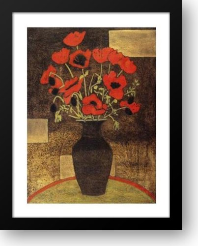Oriental Poppies 15x18 Framed Art Print by Jean, Beverly