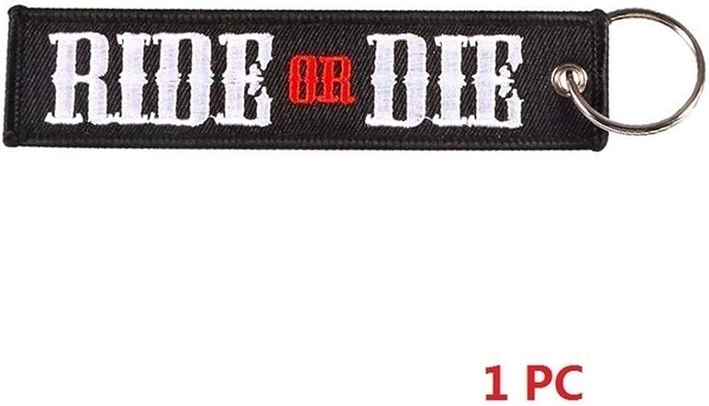 LOGO YCBHD Una Pieza de la Novedad Llavero Lanzamiento Llavero Llaveros for Motocicletas y autom/óviles Tag tecla de Bordado OEM Nunca d/é for Arriba Llavero llaveros tel/éfono Llaveros