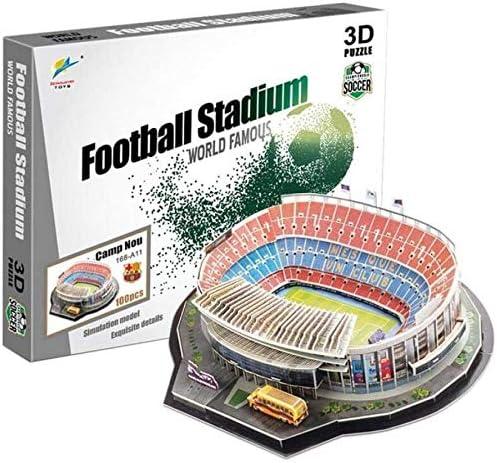 KYL Puzzle 3D DIY modela Estadio de fútbol de Papel 3D Rompecabezas, Estadio Camp NOU Kits (España) Modelo, Juguetes educativos for niños y Adultos, Regalo for niños y niñas: Amazon.es: Hogar