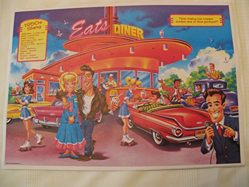 kstuf Set of 20 Old Style 1950's Placemats Double Sided Multi (Old Placemat)