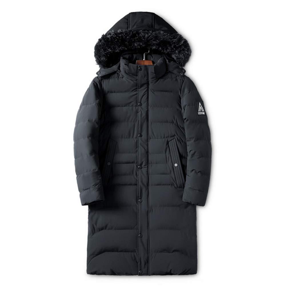 noir XL PPZQWQ Hommes Blousons Coton Manteaux épais, Hiver Etanche Mode chaude et coupe-vent Décontracté Capuche Longue section (XL-4XL)