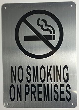 Amazon.com: No fumar en locales señal (cepillo de aluminio ...